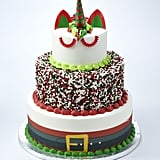 The Three-Tier Santa-Themed Unicorn Cake
