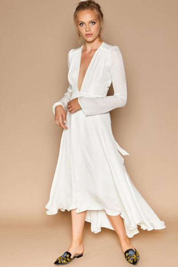 Stone Cold Fox Nico White Silk Gown