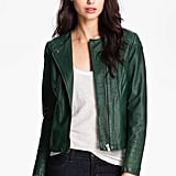 The rich color on this Q40 green leather jacket ($317, originally $528) is simply too good to deny. It would add an instant pop of color to anything you wear.