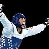 Jade Jones of Great Britain was ecstatic after winning gold in the women's 57-kilogram Taekwondo final.
