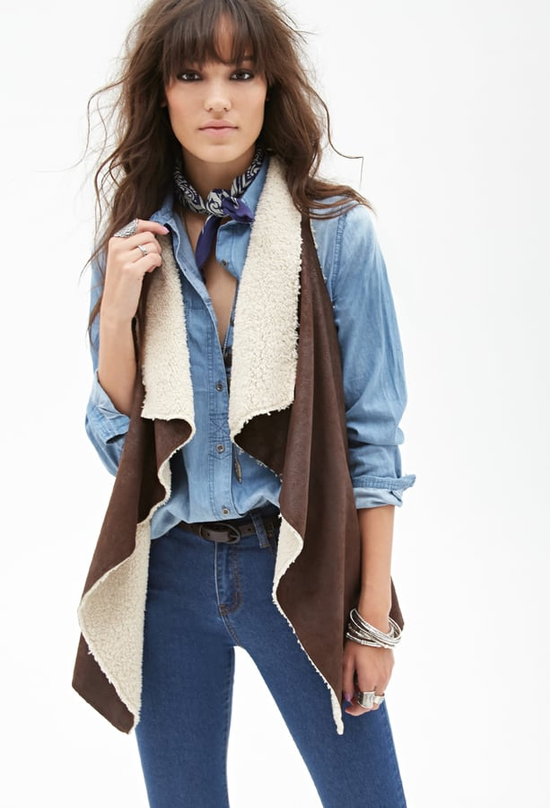 Forever 21 Faux Suede and Faux Shearling Vest