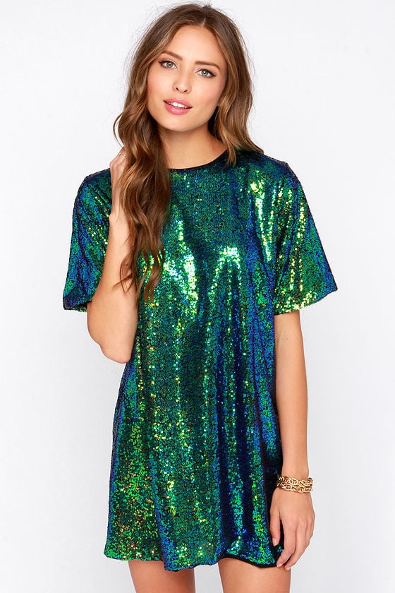 Lulu's Siren Sequin Shift Dress
