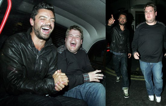Photos of James Corden and Dominic Cooper