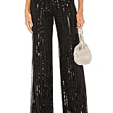 Lovers + Friends Nina Sequin Pants in Black