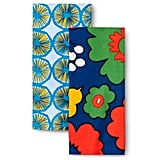 Kukkatori & Appelsiini print kitchen towel set in primary ($10)