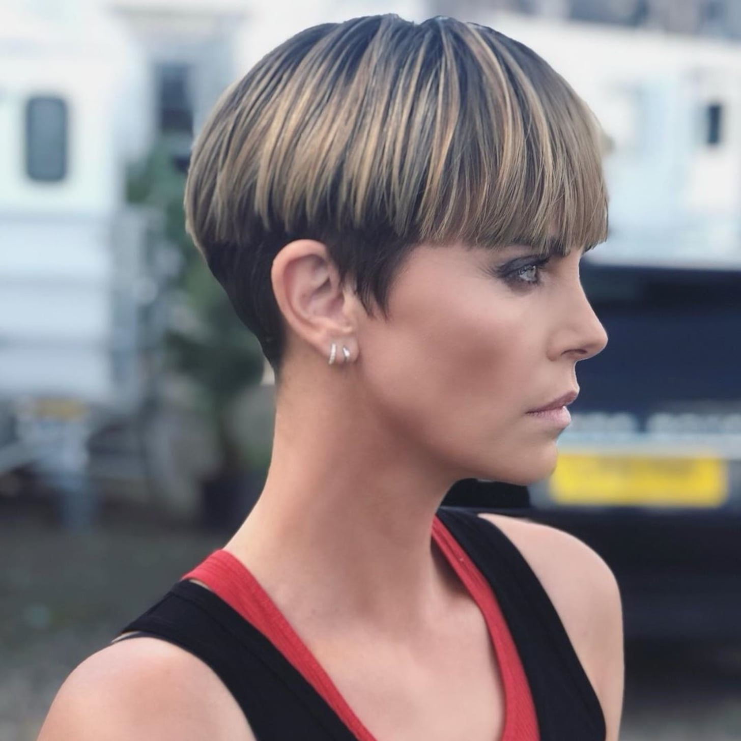 Charlize Theron Debuts Bowl Cut For New Movie Fast 9