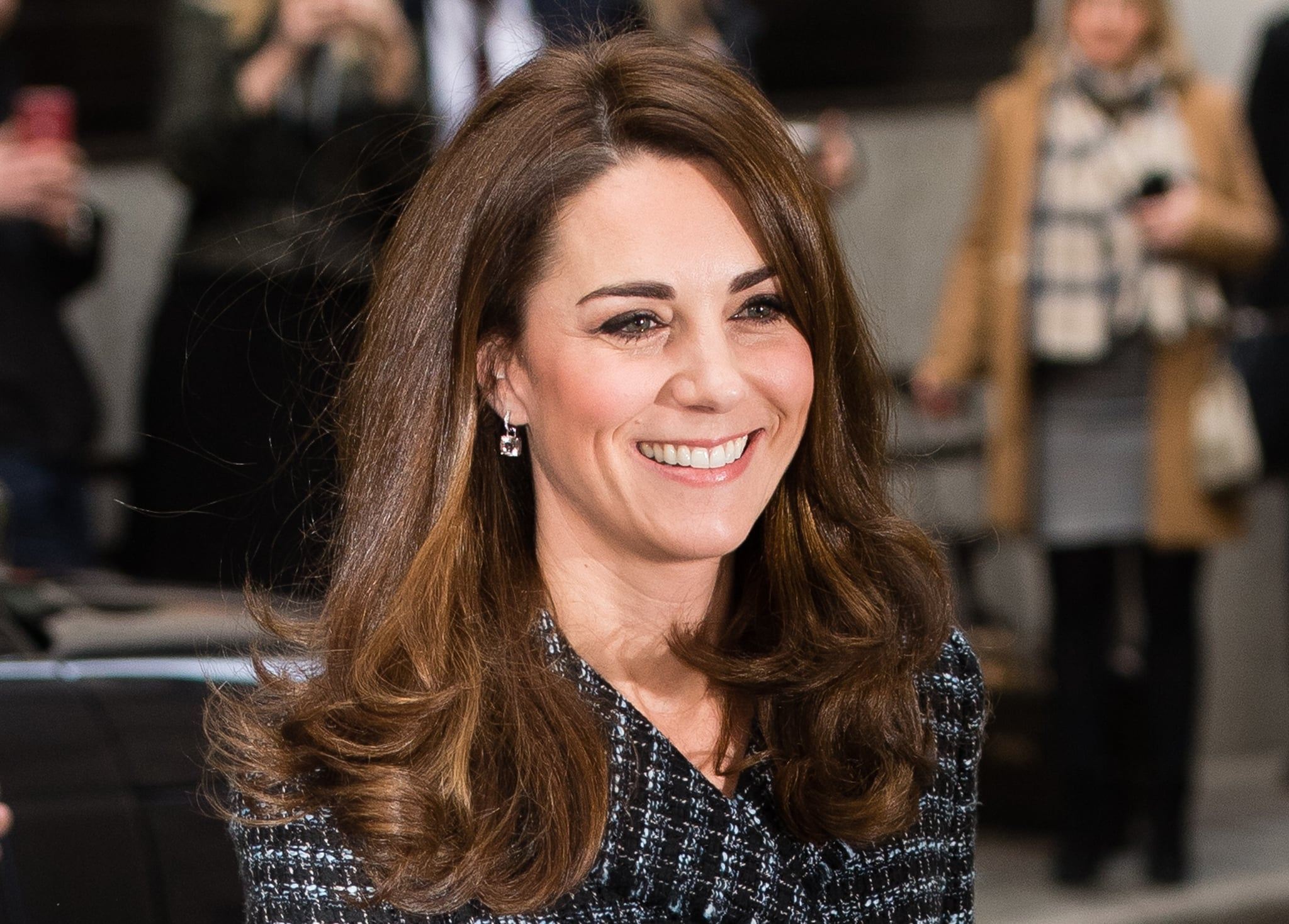 LONDON, ENGLAND - FEBRUARY 13: Catherine, Duchess of Cambridge attends a 'Mental Health In Education' conference at Mercers' Hall on February 13, 2019 in London, England. The conference will bring together delegates from across the mental health and education sectors to explore and discuss the benefits of collaborative working and what more can be done to tackle mental health issues in schools. (Photo by Samir Hussein/Samir Hussein/WireImage)