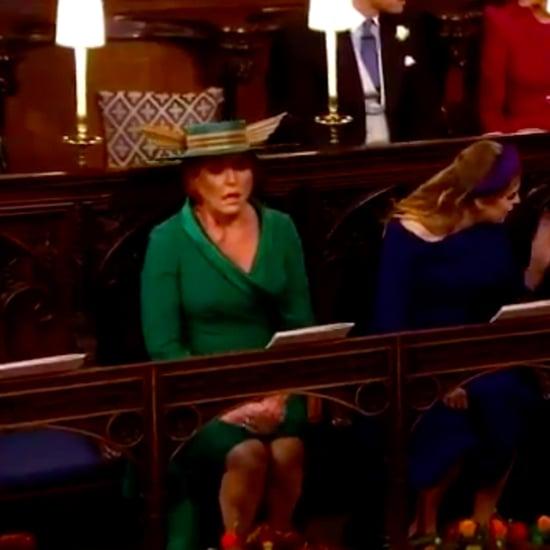 Sarah Ferguson Sigh at Princess Eugenie's Wedding