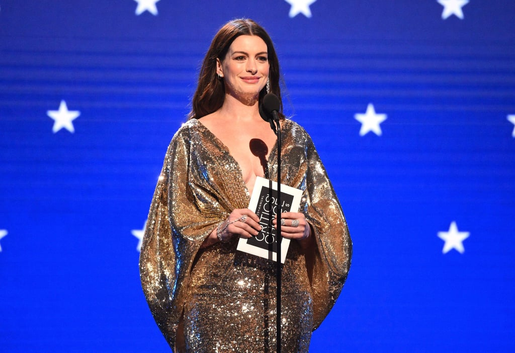 Anne Hathaway at the 2020 Critics' Choice Awards