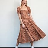 Billie the Label Eleanor Dress in Birch Plaid