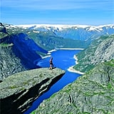 Stand on Troll Tongue in Norway