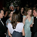 Kate Middleton and Prince William with celebrities at the BAFTA Brits to Watch event in LA.
