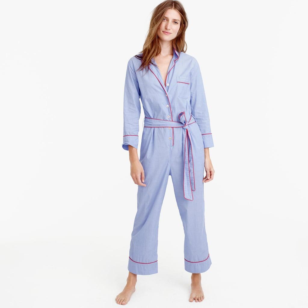 J.Crew Tipped Pajama Jumpsuit ($98)