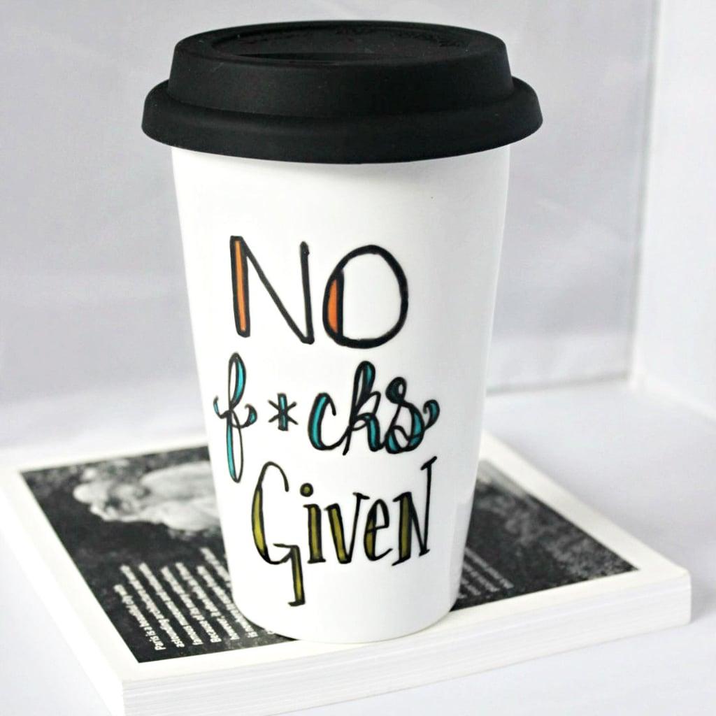 No F*cks Travel Coffee Mug