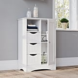 Free-Standing Bead Board Cabinet With Drawers