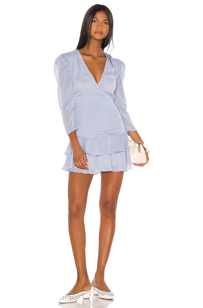 Song of Style Jace Mini Dress in Sky Blue from Revolve.com