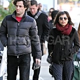 Penn Badgley and Zoe Kravitz enjoyed the crisp, Fall weather in NYC.