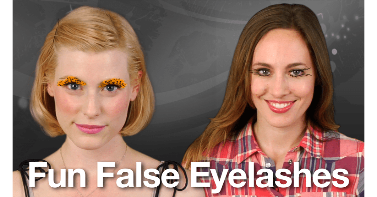 How To Apply Fake Eyelashes Easy Halloween Costume Beauty Tip