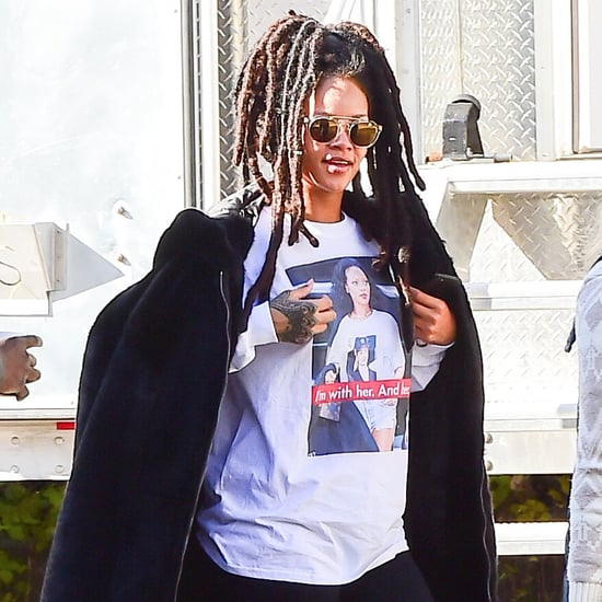 Rihanna Hillary Clinton T-Shirt in New York Oct. 2016