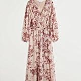 Mango Flower Chiffon Dress