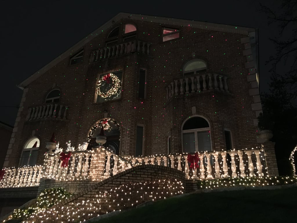 This house is simple but regal in its holiday lights.