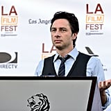 Zach Braff spoke at the filmmaker reception at the LA Film Festival.