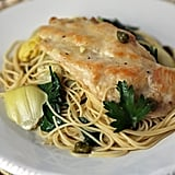 Angel Hair Pasta With Chicken and Artichokes