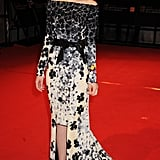 Carey Mulligan in Floral Vionnet at the 2010 BAFTAs