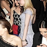 Kristen Stewart posed for a photo with her Runaways costar Dakota Fanning. Billy Farrell/BFAnyc.com