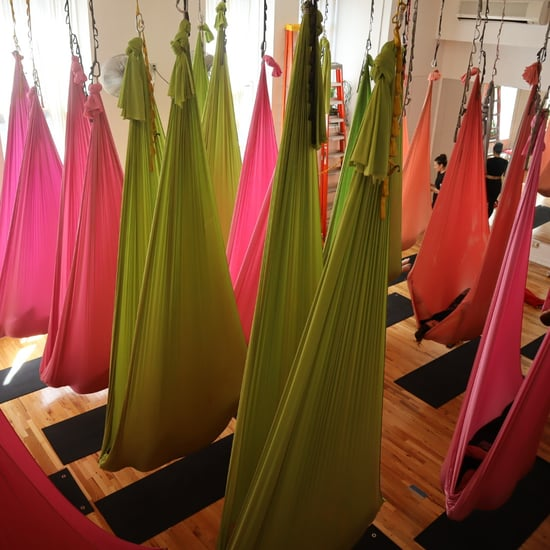 Plus-Size Woman Tries Aerial Yoga and Enjoyed It