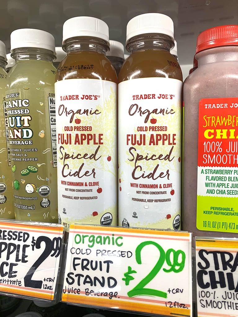 Organic Cold Pressed Fuji Apple Spiced Cider ($3)
