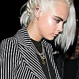 Cara Delevingne's Twisted Side Braid, 2017