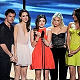 Ian Harding, Troian Bellisario, Lucy Hale, Ashley Benson, and Shay Mitchell