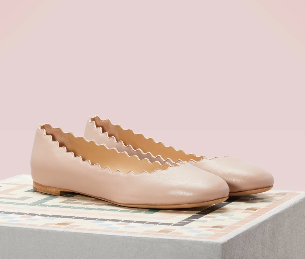 Chloé Lauren nappa sheepskin ballet pumps