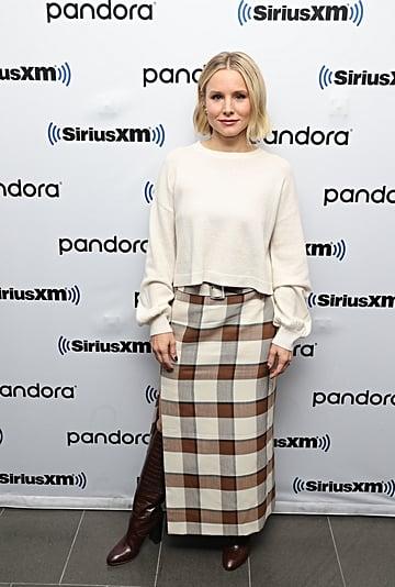 Kristen Bell Wears Loeffler Boots and Staud Skirt in NYC