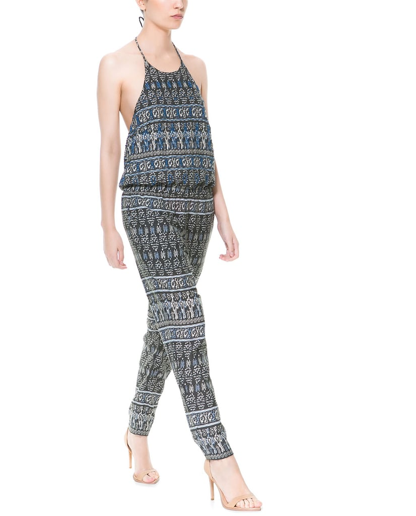 Your one-piece wonder — this Zara beaded printed jumpsuit ($50) is as functional as it is fabulous.
