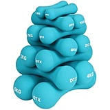 Soft Touch Turquoise Dumbbells Hand Weights