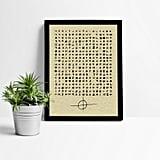 Zodiac Letter Puzzle Print