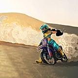 Jasmine on a Motorcycle