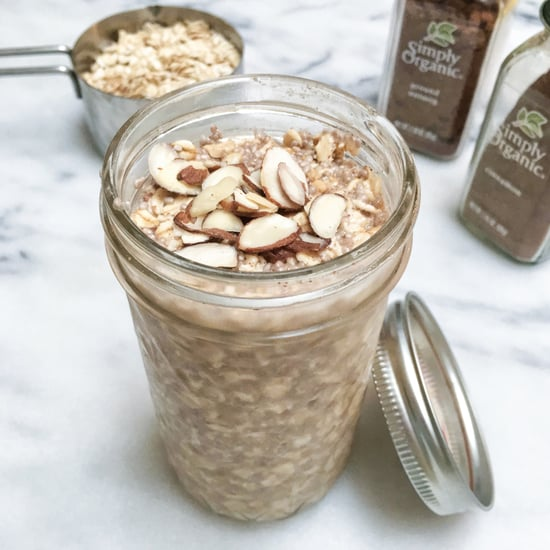 Healthy Eggnog Overnight Oats