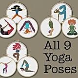 Nine Mini Yoga Poses
