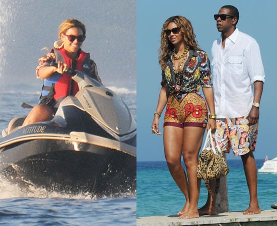 Pictures of Beyonce on Jet Ski on Holiday With Jay-Z in South of France
