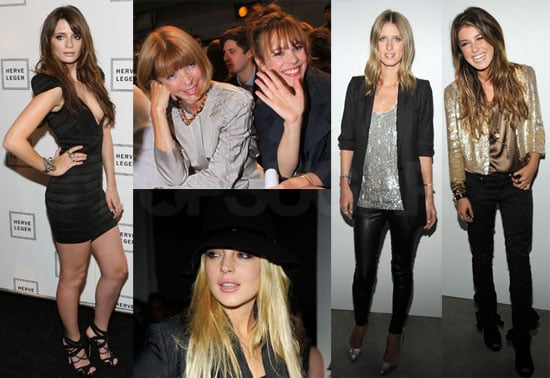 Photos of Lindsay Lohan, Mischa Barton, Leighton Meester, Rachel McAdams, and More Celebrities at New York Fashion Week
