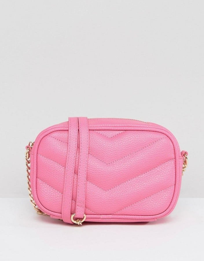 ASOS Camera Bag With Quilted Chevron Cross Body Bag
