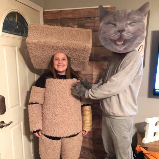 Couple's Cat and Cat Scratcher Halloween Costume