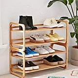 Stackable Bamboo Shoe Rack