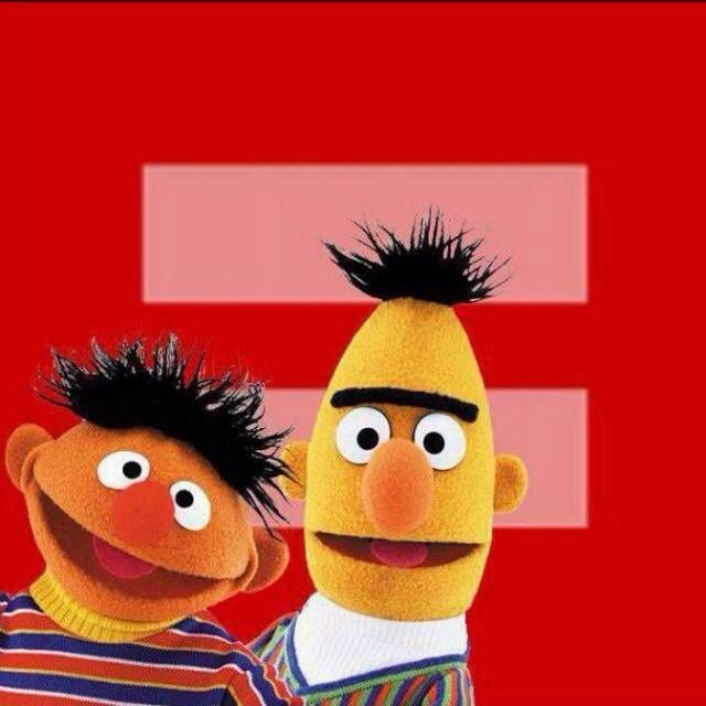 Bert and Ernie make an appearance on some of the images. Source: Facebook user Becca Frucht