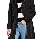 Avec Les Filles Water Resistant Raincoat with Removable Hood