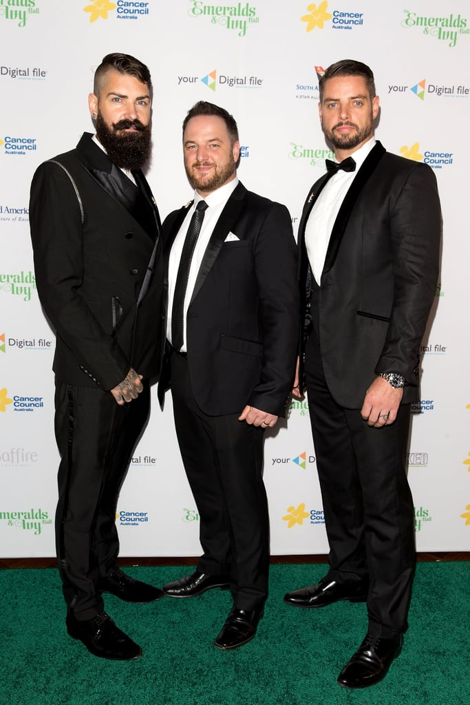 Boyzone's Shane Lynch, Mikey Graham and Keith Duffy
