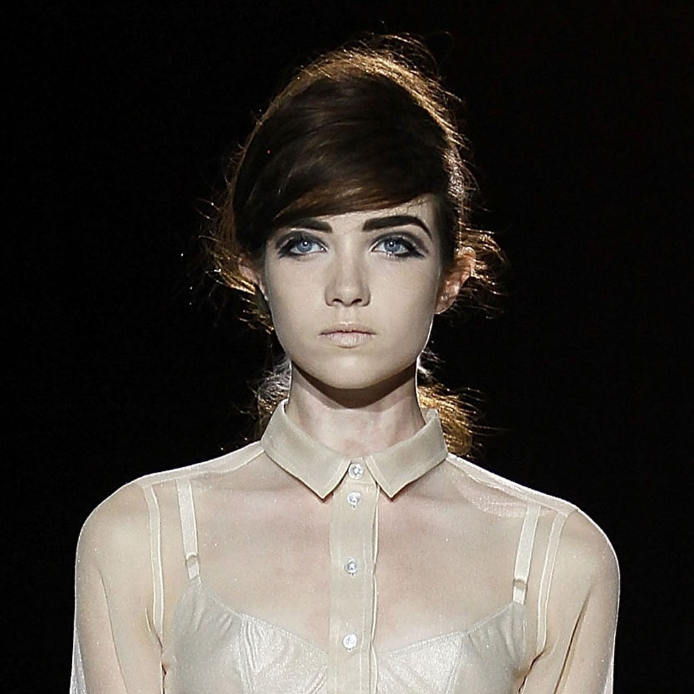 Photos of the Bouffant Hair and 60s Makeup Look at Marc Jacobs Spring Summer 2013 New York Fashion Week
